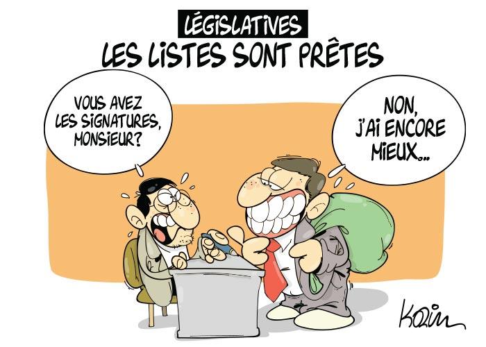 Législatives: Les listes sont prêtes