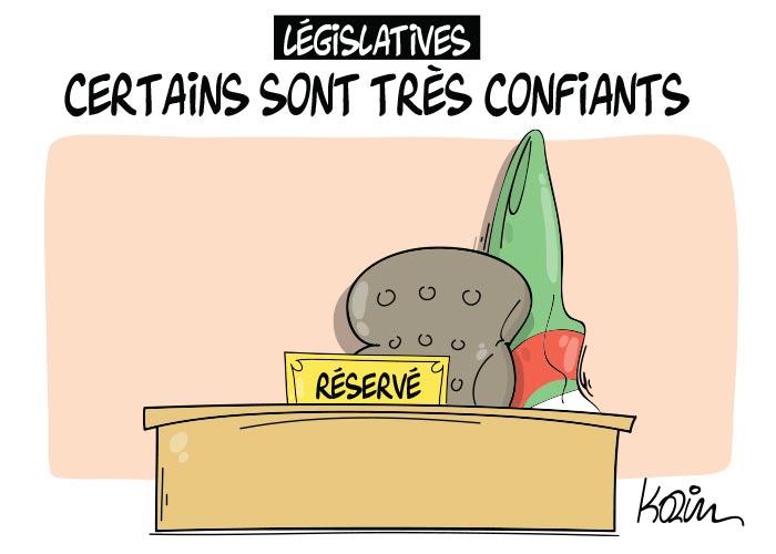 Législatives: Certains sont très confiants