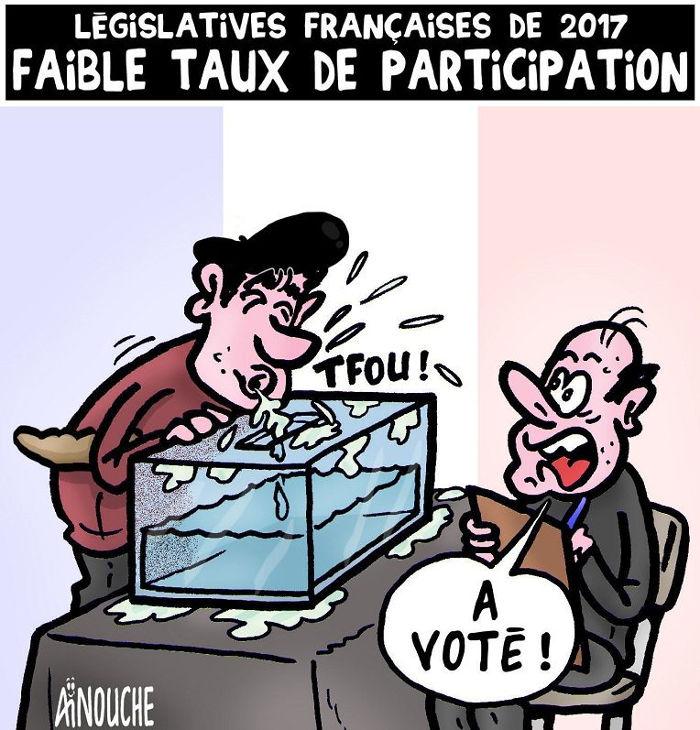 Législatives françaises de 2017: Faible taux de participation