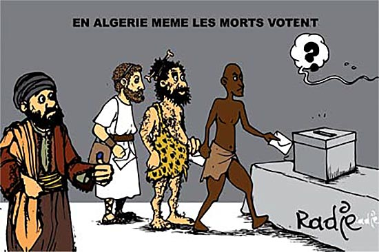 En Algérie même les morts votent