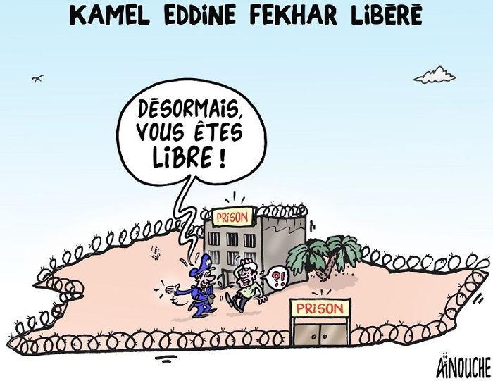 Kamel Eddine Fekhar libéré