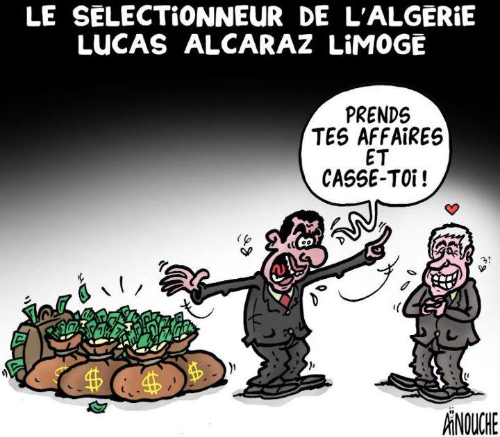 Le sélectionneur de l'Algérie Lucas Alcaraz limogé