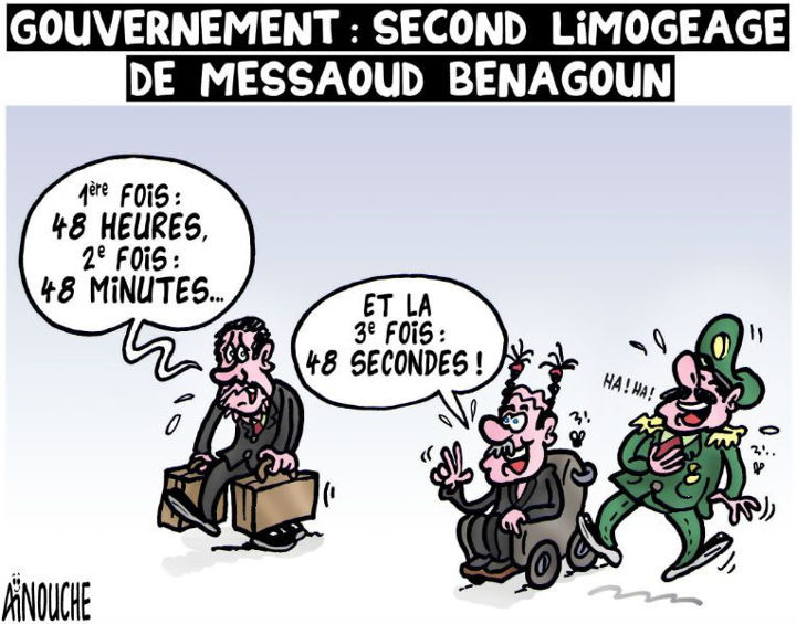 Gouvernement: Second limogeage de Messaoud Benagoun