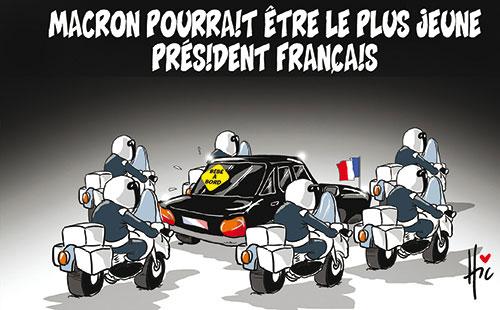 Macron pourrait être le plus jeune président français
