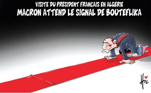 Visite du président français en Algérie: Macron attend le signal de Bouteflika