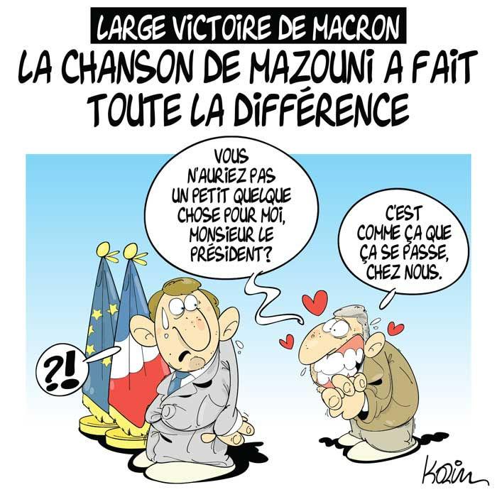 Large victoire de Macron: La chanson de Mazouni a fait toute la différence