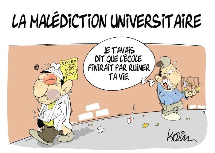 La malédiction universitaire