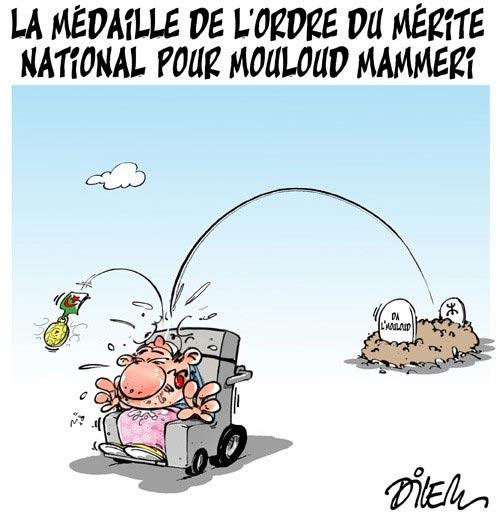 La médaille de l'ordre du mérite national pour Mouloud Mammeri