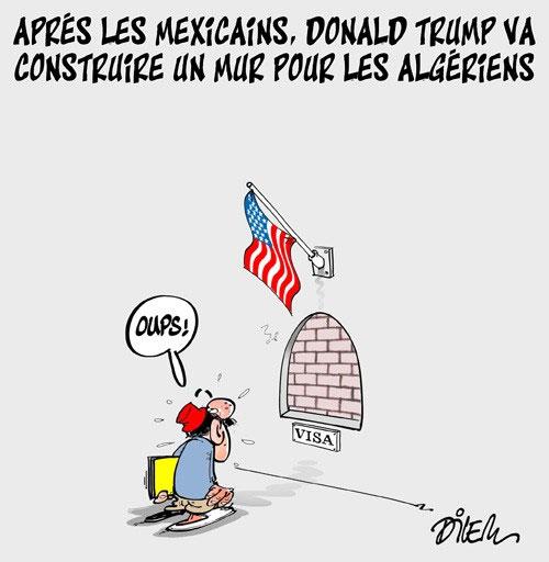 Après les mexicains, Donald Trump va construire un mur pour les algériens