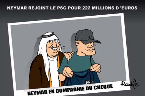 Neymar rejoint le PSG pour 222 millions d'euros