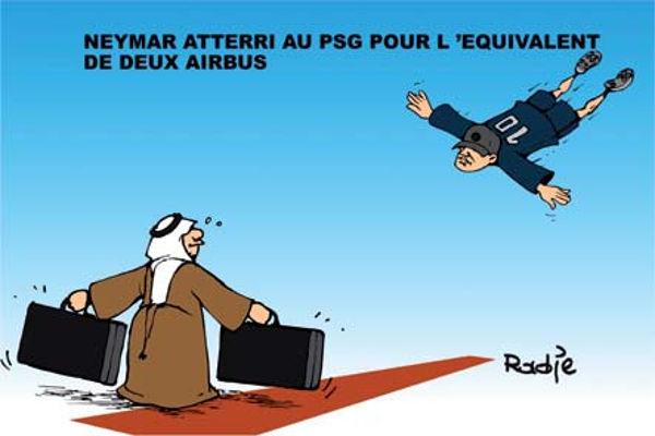 Neymar atteri au PSG pour l'équivalent de deux airbus