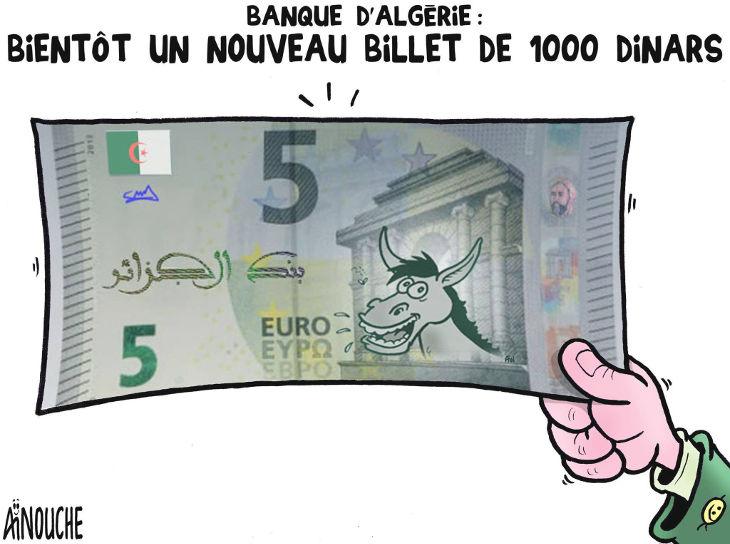 Banque d'Algérrie: Bientôt un nouveau billet de 1000 dinars