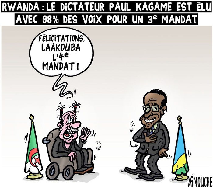 Rwanda: Le dictateur Paul Kagame est élu avec 98% des voix pour un 3e mandat