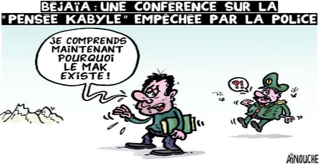 """Béjaïa: Une conférence sur la épensée kabyle"""" empêchée par la police"""