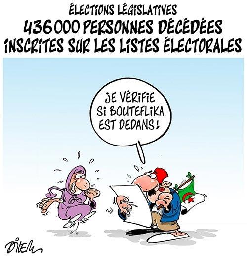 Election législatives: 436000 personnes décédées inscrites sur les listes électorales