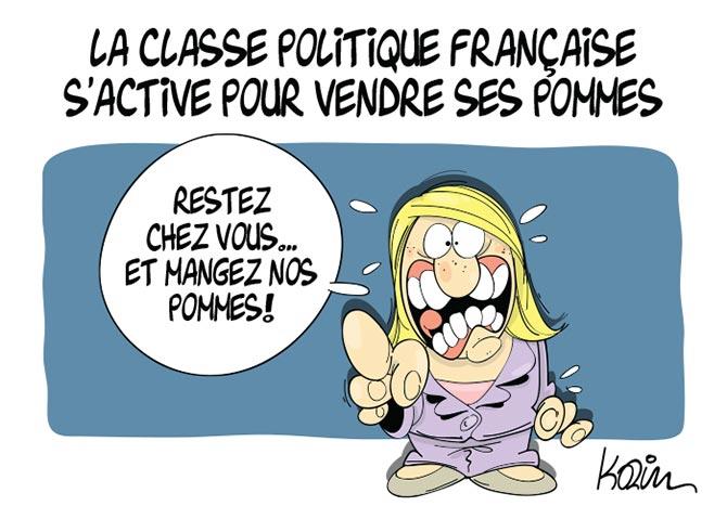 La classe politique française s'active pour vendre ses pommes