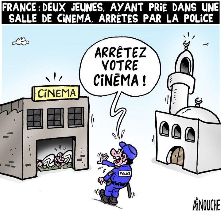 France: Deux jeunes ayant prié dans une salle de cinéma arrêtés par la police