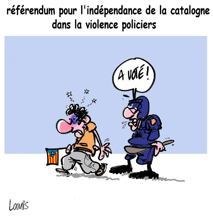 Référendum pour l'indépendance de la catalogne dans la violence policière