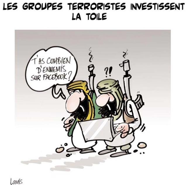Les groupes terroristes investissent la toile