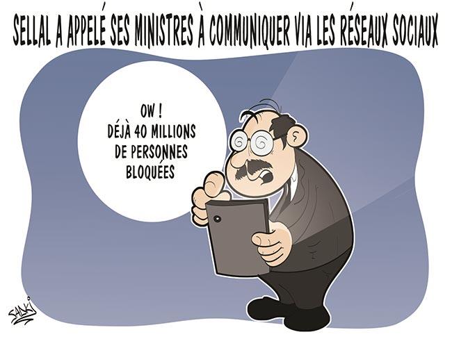 Sellal a appelé ses ministres à communiquer via les réseaux sociaux