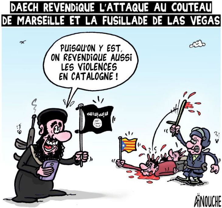 Daech revendique l'attaque au couteau de Marseille et la fusillade de Las Vegas