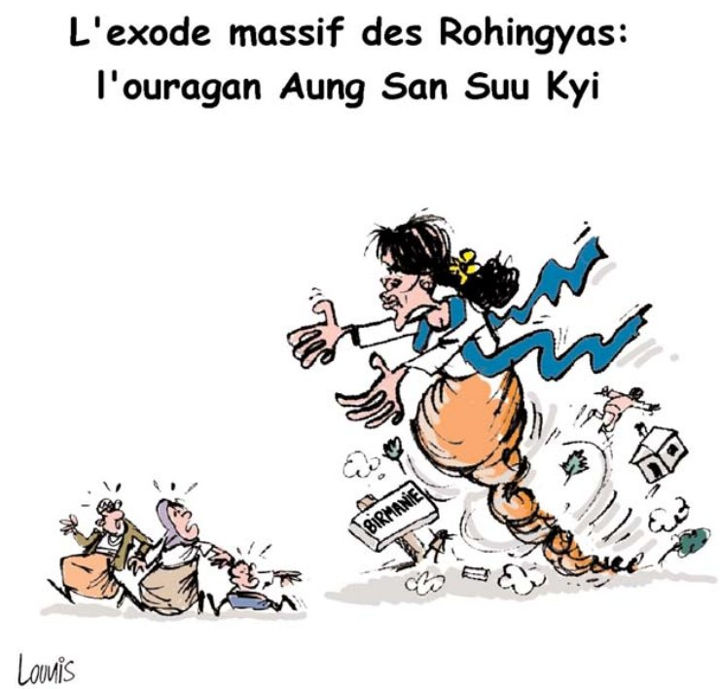 L'exode massif des Rohingyas: L'ouragan Aung San Suu Kyi