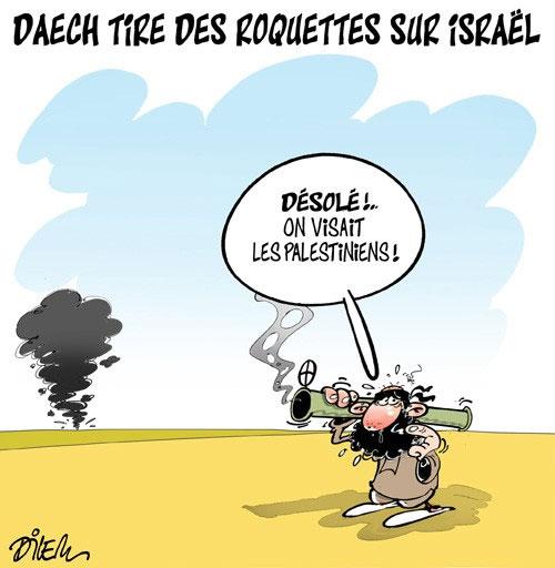 Daech tire des roquettes sur Israël