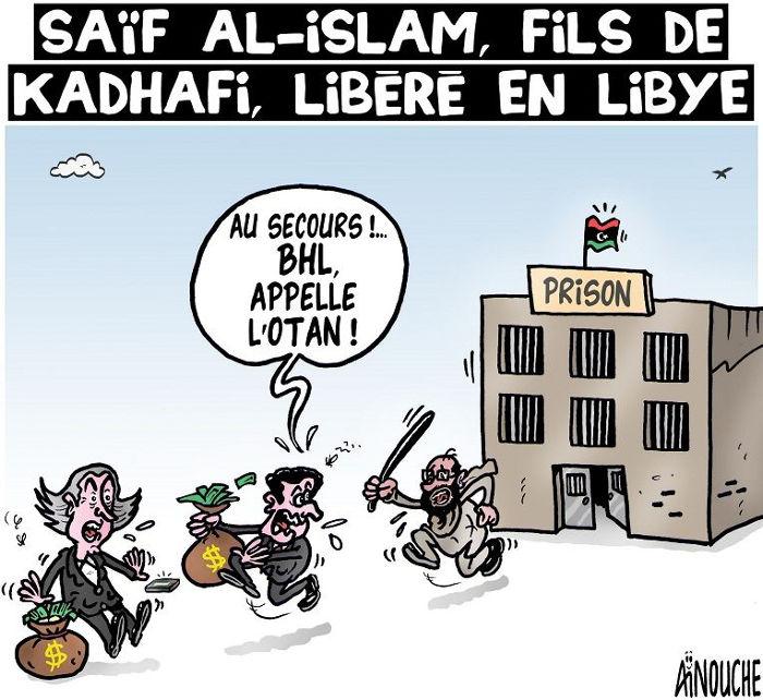 Saïf Al-Islam, fils de Kadhafi, libéré en Libye