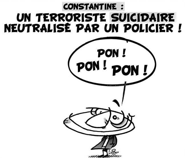 Constantine: Un terroriste suicidaire neutralisé par un policier