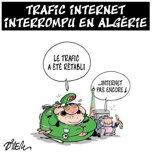 Trafic internet interrompu en Algérie