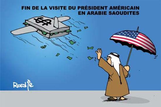 Fin de la visite du président américain en Arabie Saoudite