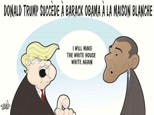 Donald Trump succède à Barack Obama à la maison blanche