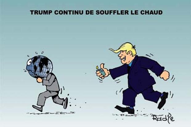 Trump continu de souffler le chaud