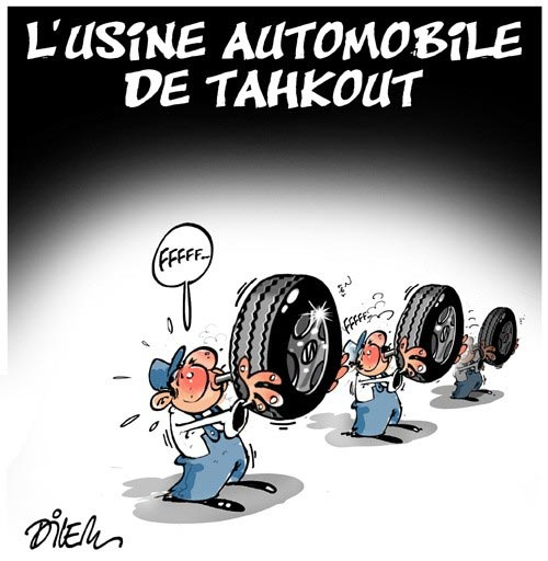 L'usine automobile de Tahkout