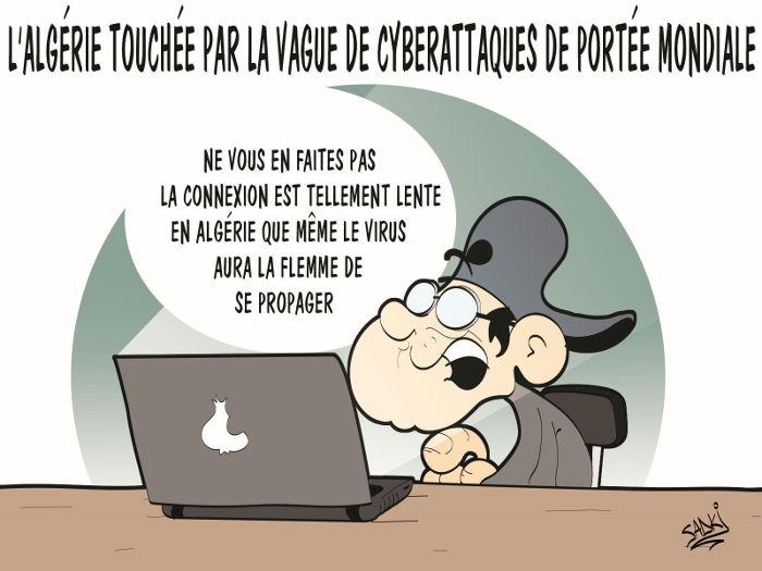 L'Algérie touchée par la vague de cyberattaques de portée mondiale