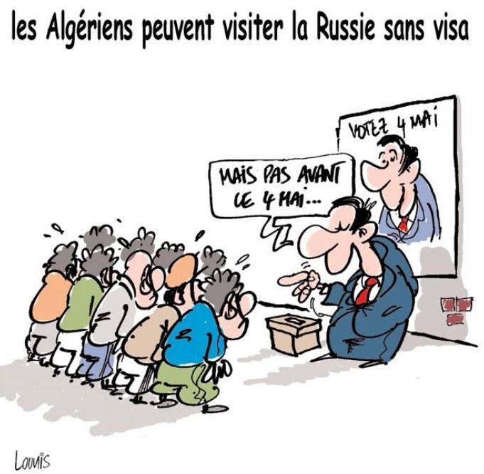 Les Algériens peuvent visiter la Russie sans visa