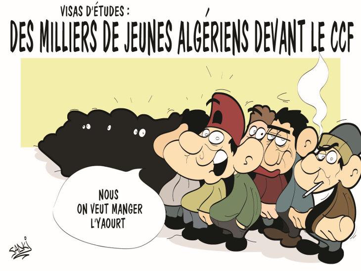 Visas d'études: Des milliers de jeunes algériens devant le CCF