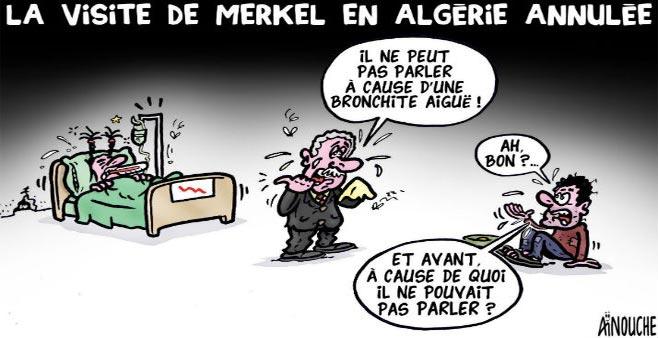 La visite de Merkel en Algérie annulée