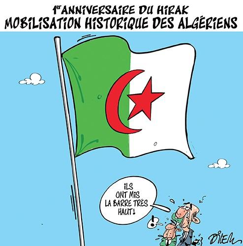 1er anniversaire du hirak. Mobilisation historique des algériens - Dilem - Liberté - Gagdz.com