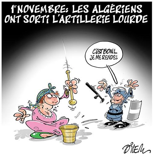 1er novembre : Les algériens ont sorti l'artillerie lourde - Dilem - Liberté - Gagdz.com
