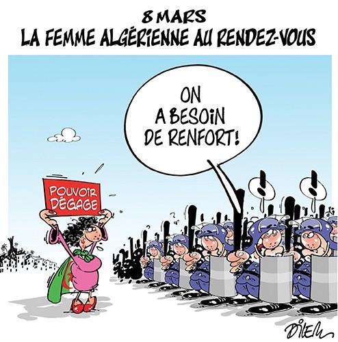 8 mars : la femme algérienne au rendez-vous - Dilem - Liberté - Gagdz.com