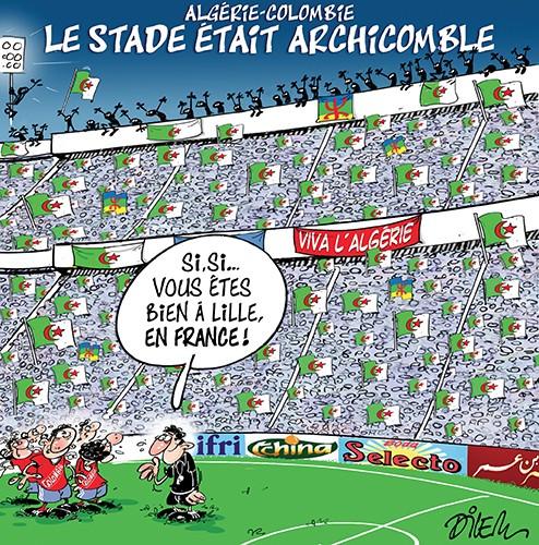 Algérie Colombie : Le stade était archicomble - Dilem - Liberté - Gagdz.com