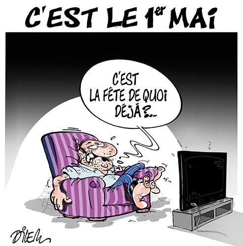 C'est le 1er mai 2020 : C'est la fête de quoi déjà ? - Dessins et Caricatures, Dilem - Liberté - Gagdz.com