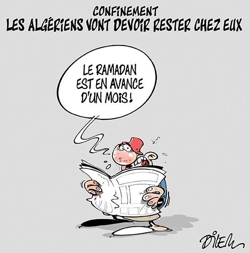 Confinement : Les algériens vont devoir rester chez eux - Dilem - Liberté - Gagdz.com