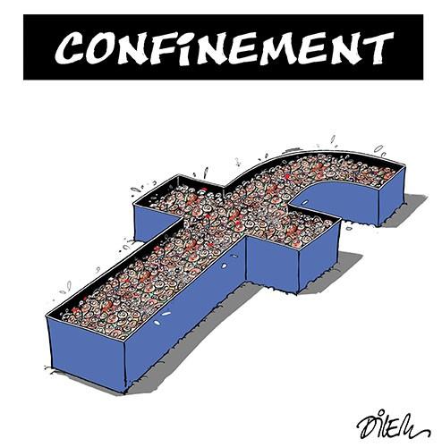 Confinement sur les réseaux sociaux - Dilem - Liberté - Gagdz.com
