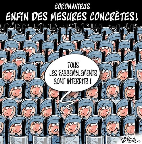 Coronavirus : Efin des mesures concrètes. Tous les rassemblements sont interdits - Dilem - Liberté - Gagdz.com