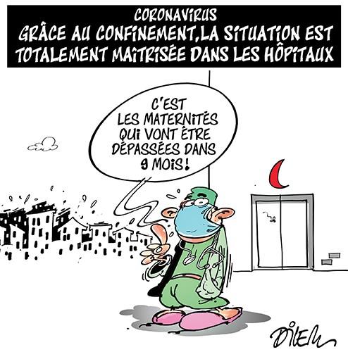 Coronavirus : Grâce au confinement, la situation est totalement maitrisée dans les hopitaux algériens - Dilem - Liberté - Gagdz.com