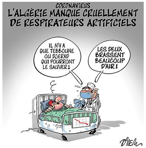 Coronavirus : L'Algérie manque cruellement de respirateurs artificiels - Dilem - Liberté - Gagdz.com