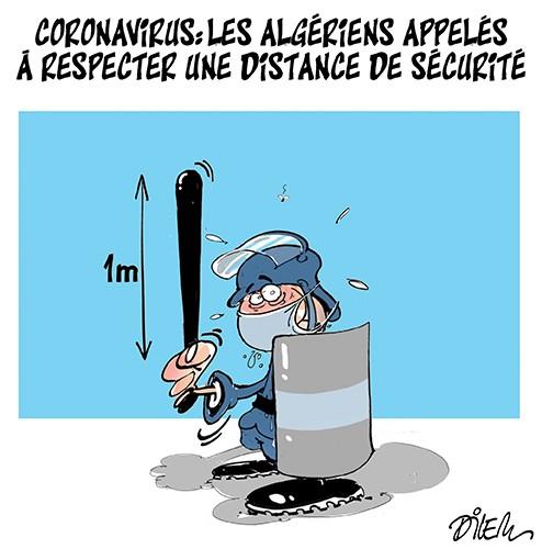 Coronavirus : Les algériens appelés à respecter une distance de sécurité - Dilem - Liberté - Gagdz.com