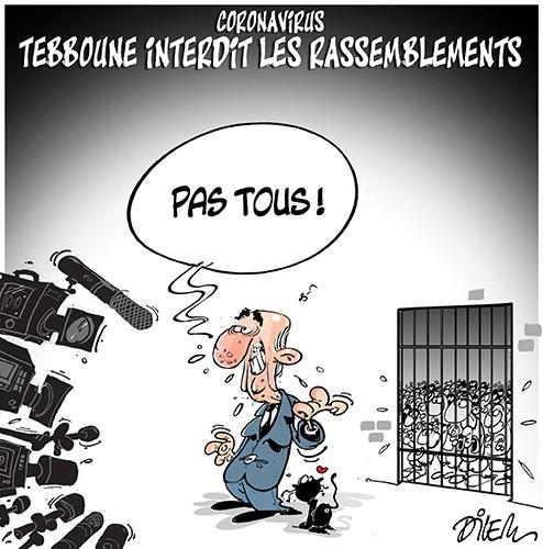 Coronavirus : Teboune interdit les rassemblements - Dilem - Liberté - Gagdz.com